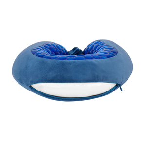 Travel Accessories-Viaggi U Shape Cooling Gel Silicon Travel Neck Pillow - Blue