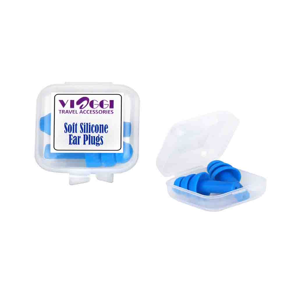 Viaggi Soft Silicone Noise Reduction Ear Plug Pack of 2 - Blue