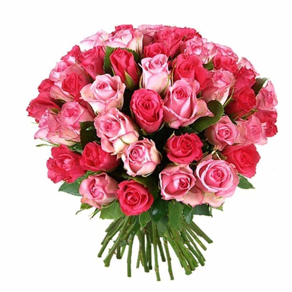 Valentine Flowers-Bouquet of Red and Pink Roses For Romantic Couple
