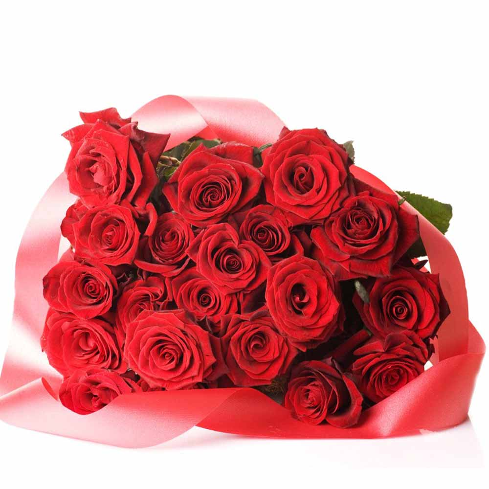 Valentine Flowers-Valentine Affection Red Roses