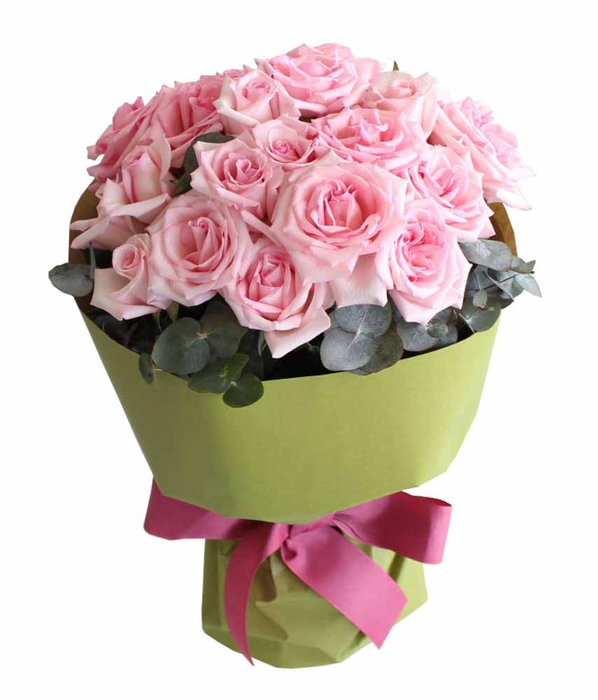 25 Pink Roses Valentine Bouquet