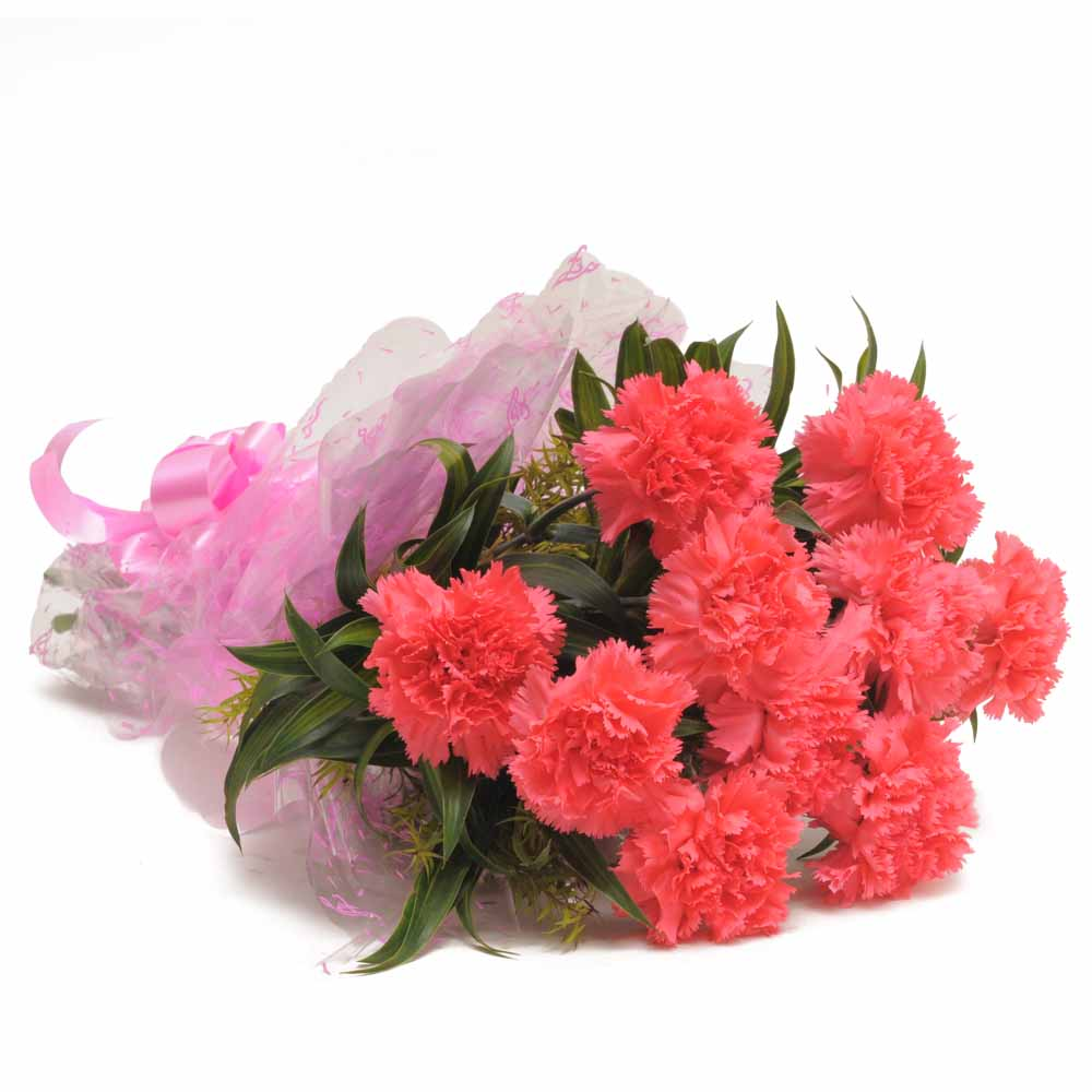 Valentine Roses-Carnation Bunch