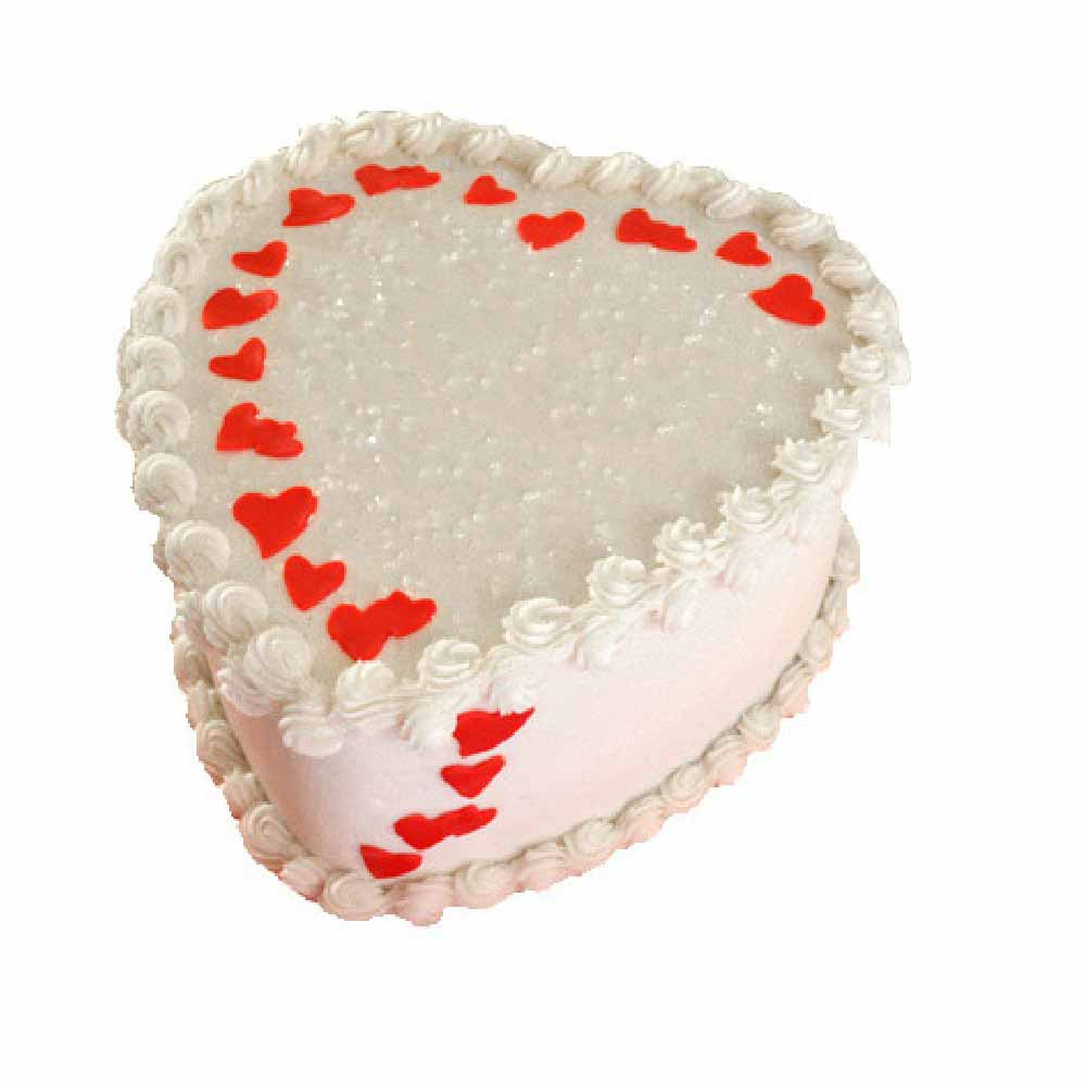 Lovely Heart Shape Cake