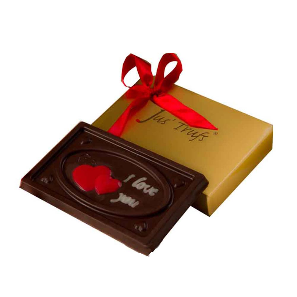 Gift I love you Valentine Chocolate Bar on Valentines Day