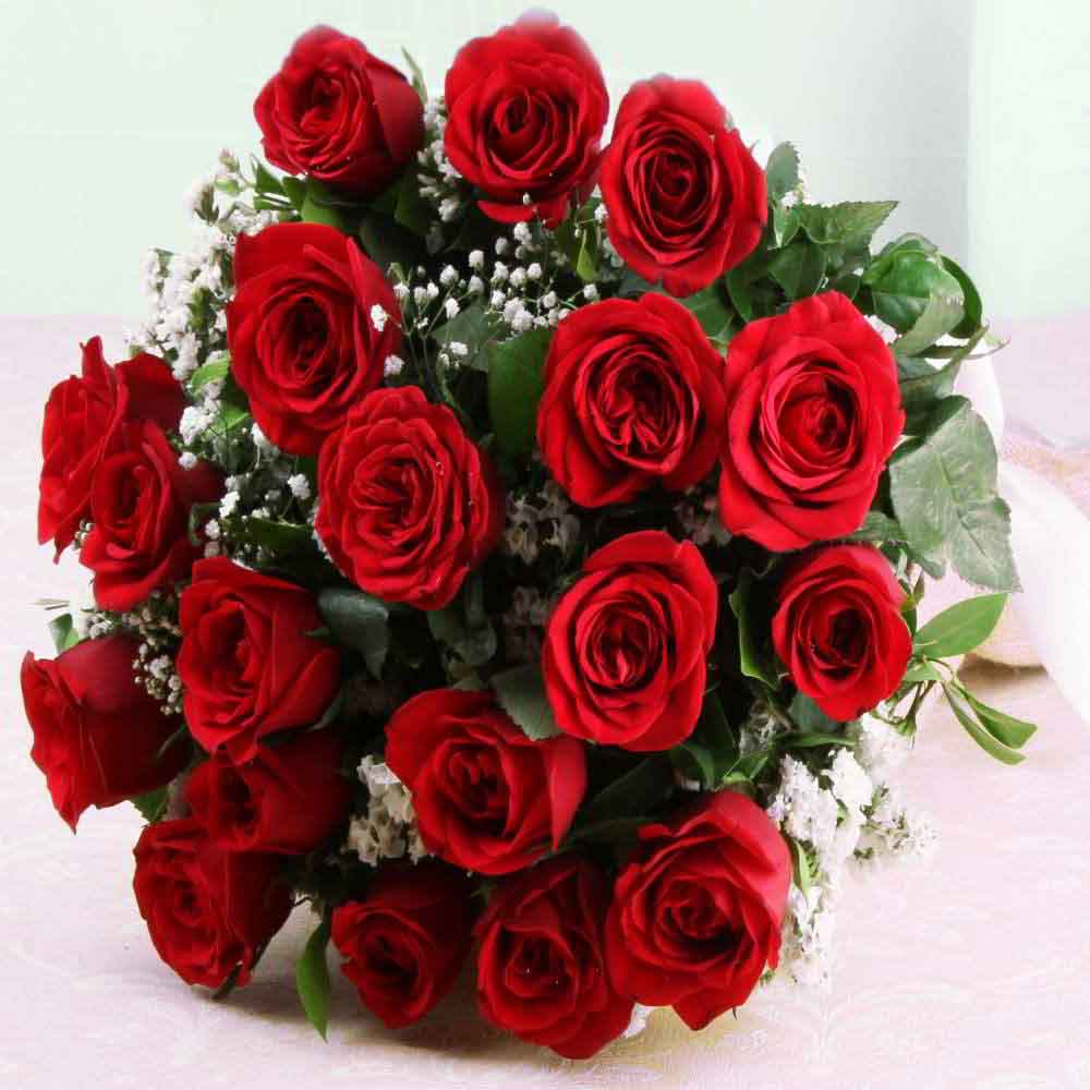 Ravishing Twenty Red Roses Bouquet