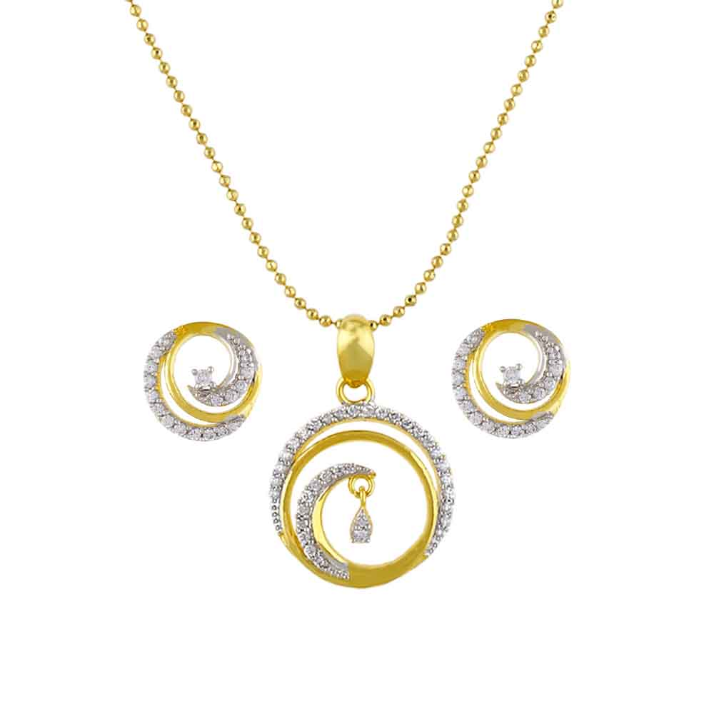 Jewelry-Spiral Pendant Set