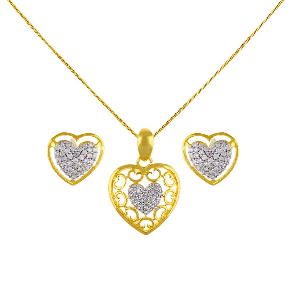 Heart Beat Pendant Set