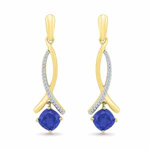 Jewelry-Classy Blue Sapphire Earrings