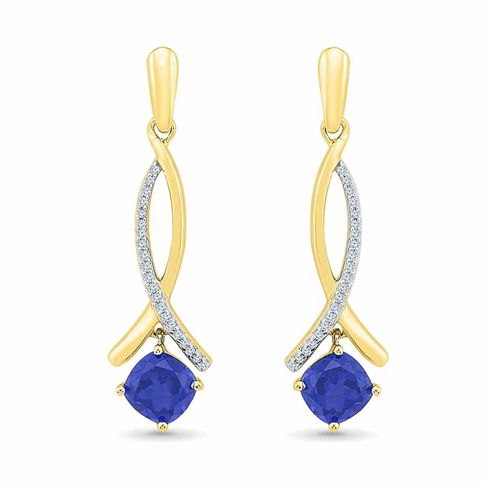 Classy Blue Sapphire Earrings