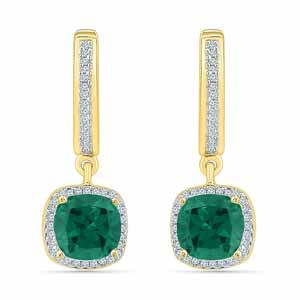 Jewelry-Perfect Emerald Diamond Earrings