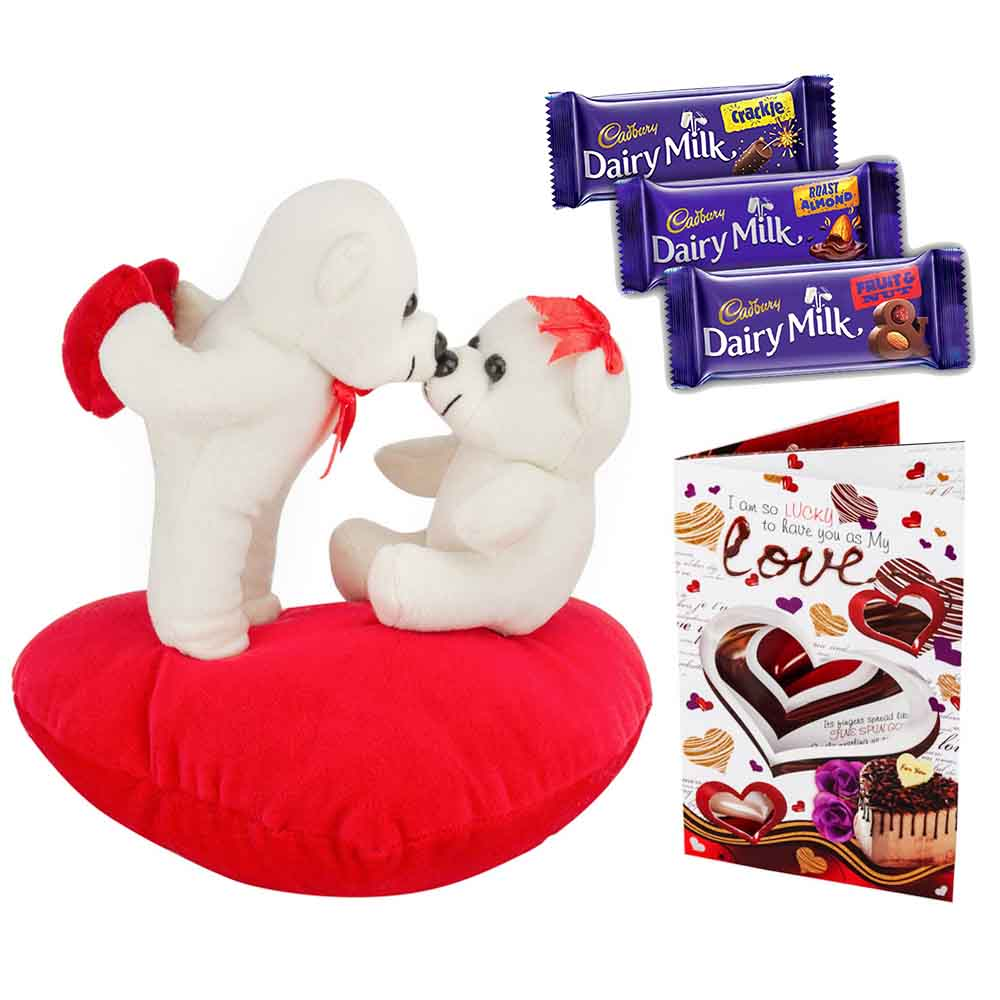 Sweet Nothings-Set of 3 Cadburys chocolates with Kiss Me Teddys