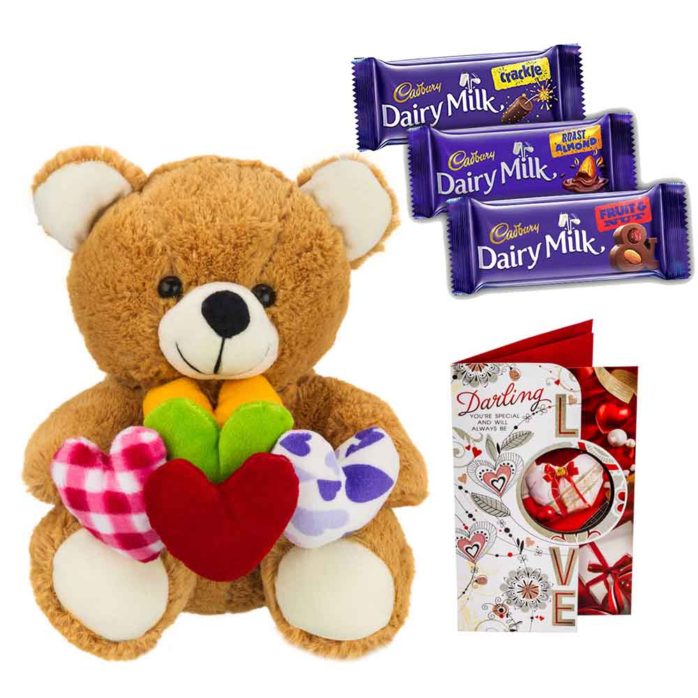 Sweet Nothings-Cadburys Chocolates with Bear holding hearts