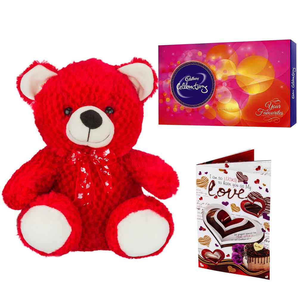 Ferero Rocher with Red Cuddly Bear