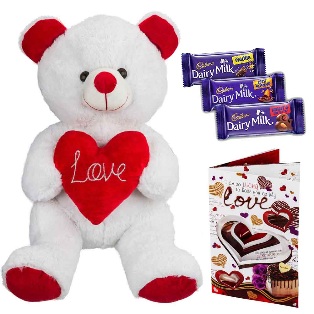 Sweet Nothings-Cadburys Chocolates with White n Red Grand Bear
