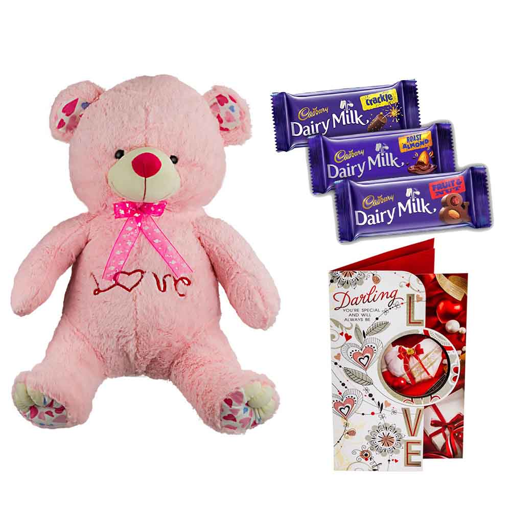 Sweet Nothings-Cadburys Chocolates with Cuddly Grand Pink Bear