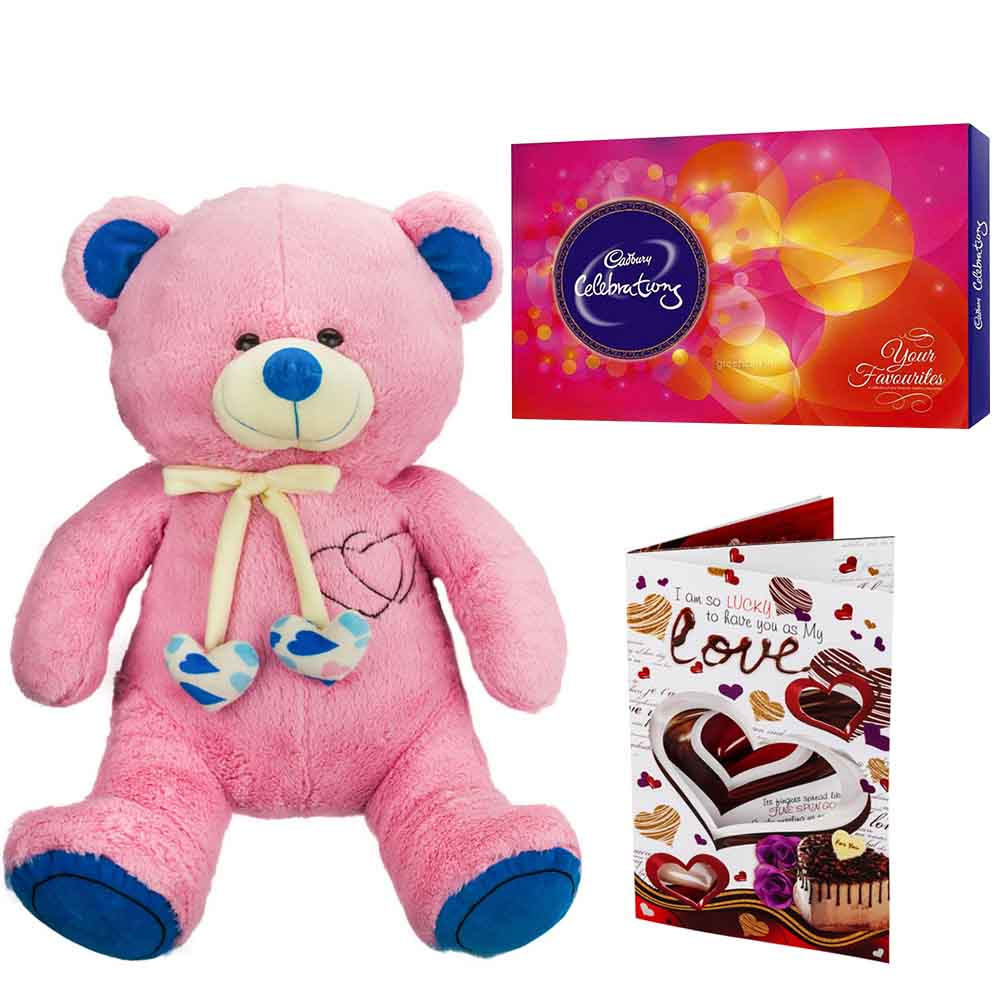 Sweet Nothings-Cadburys Celebrations with Cuddly Grand Pink Blue Bear