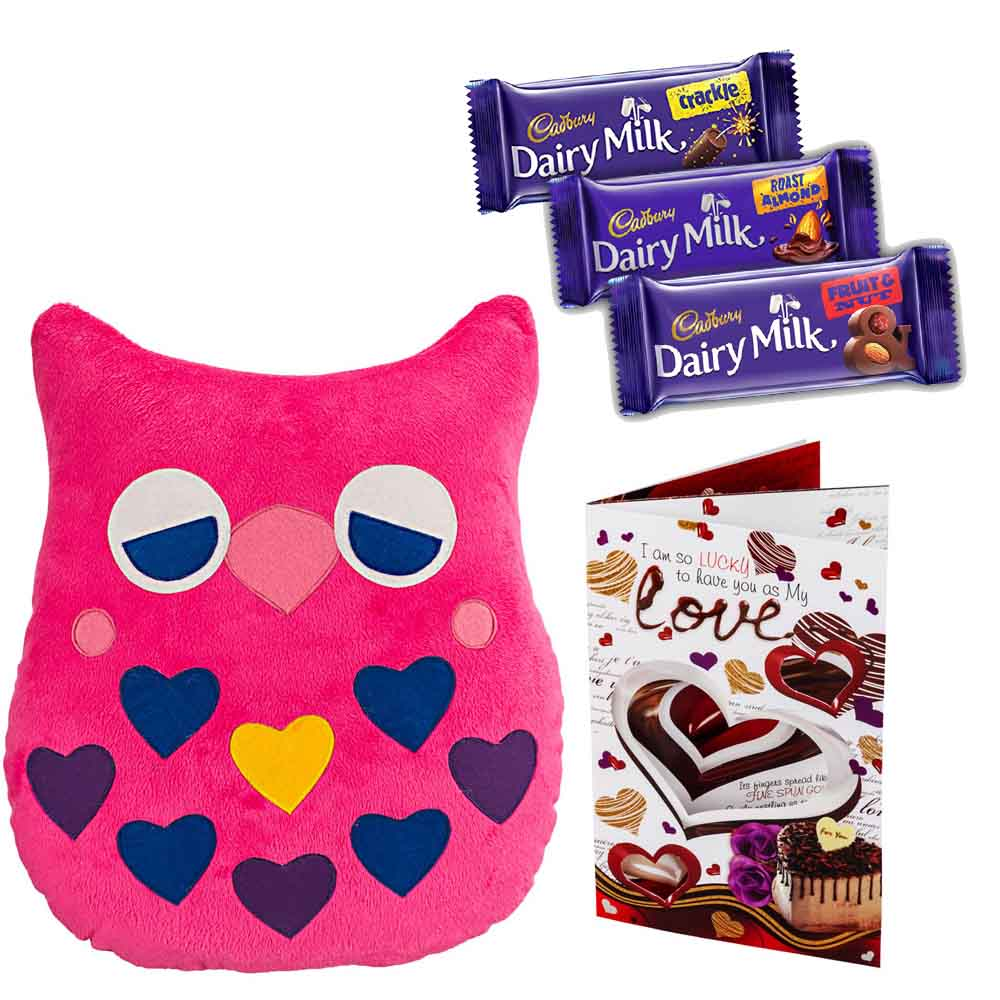 Sweet Nothings-Cadburys Chocolates with Drowzy Owl with Heart