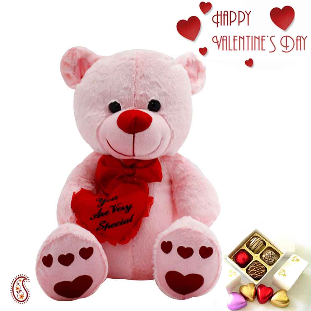 Valentine Hampers-Cute Teddy with You Are So Special Message