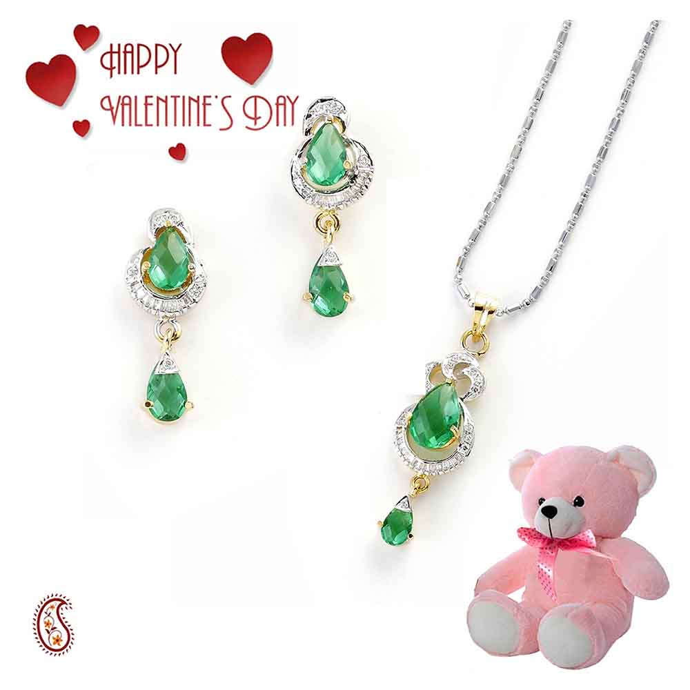 Captivation Pendant Set with Free Teddy & Valentine's Card.
