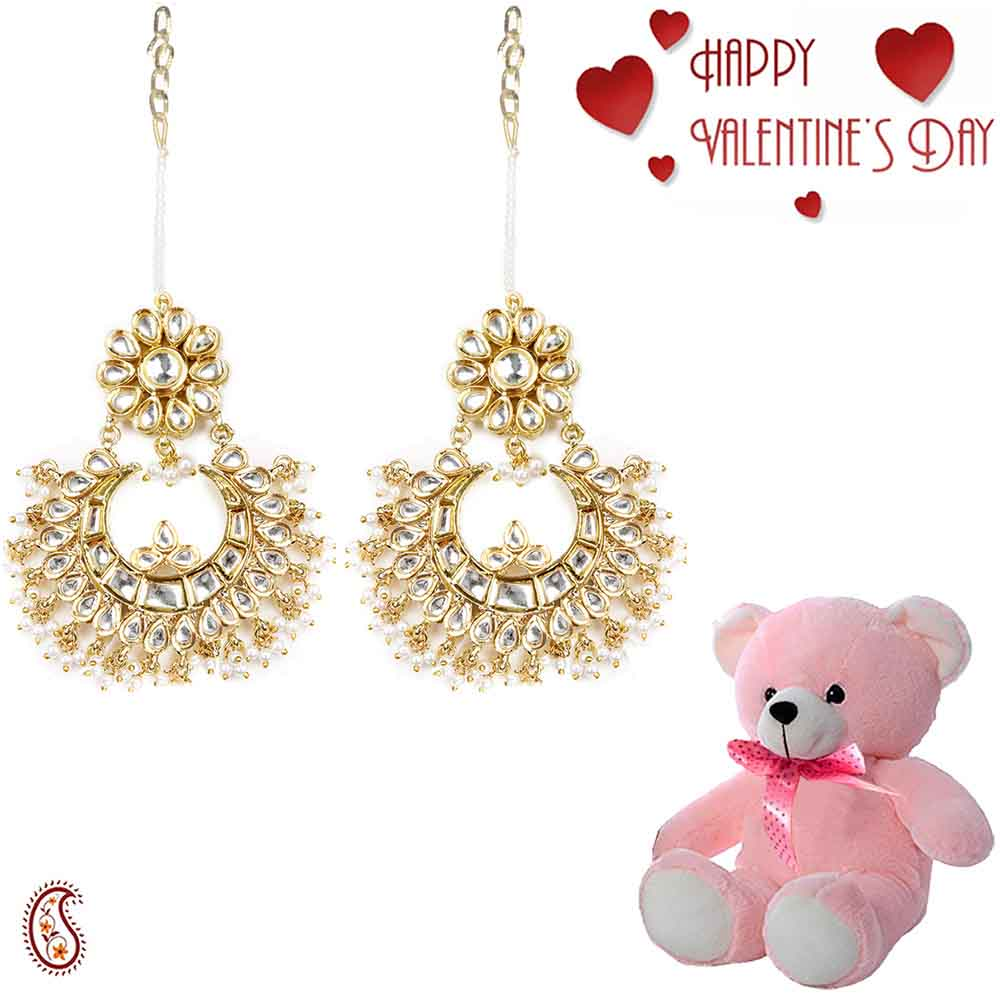 Jewelry-Charming Chandelier Earrings with Free Teddy & Valentine's Card.
