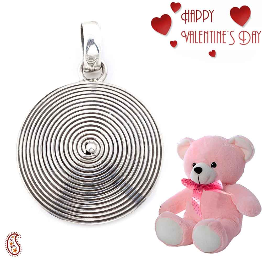 Aesthetic Sterling Silver Pendant with Free Teddy & Valentine's Card_11.
