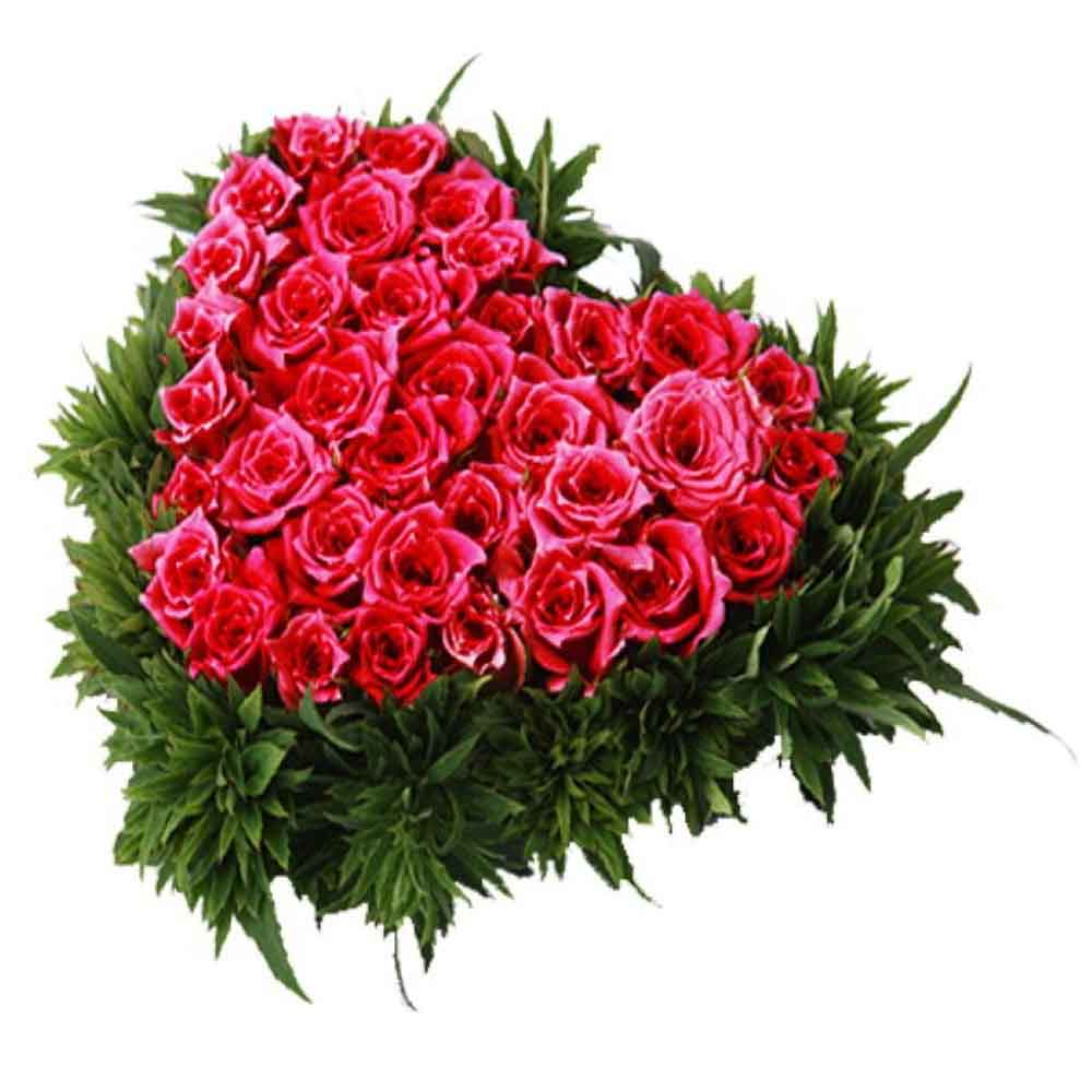 Valentine Roses-Perfect Floral Heart Valentine Gifts