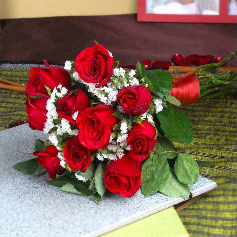 Ten Red Roses Bouquet