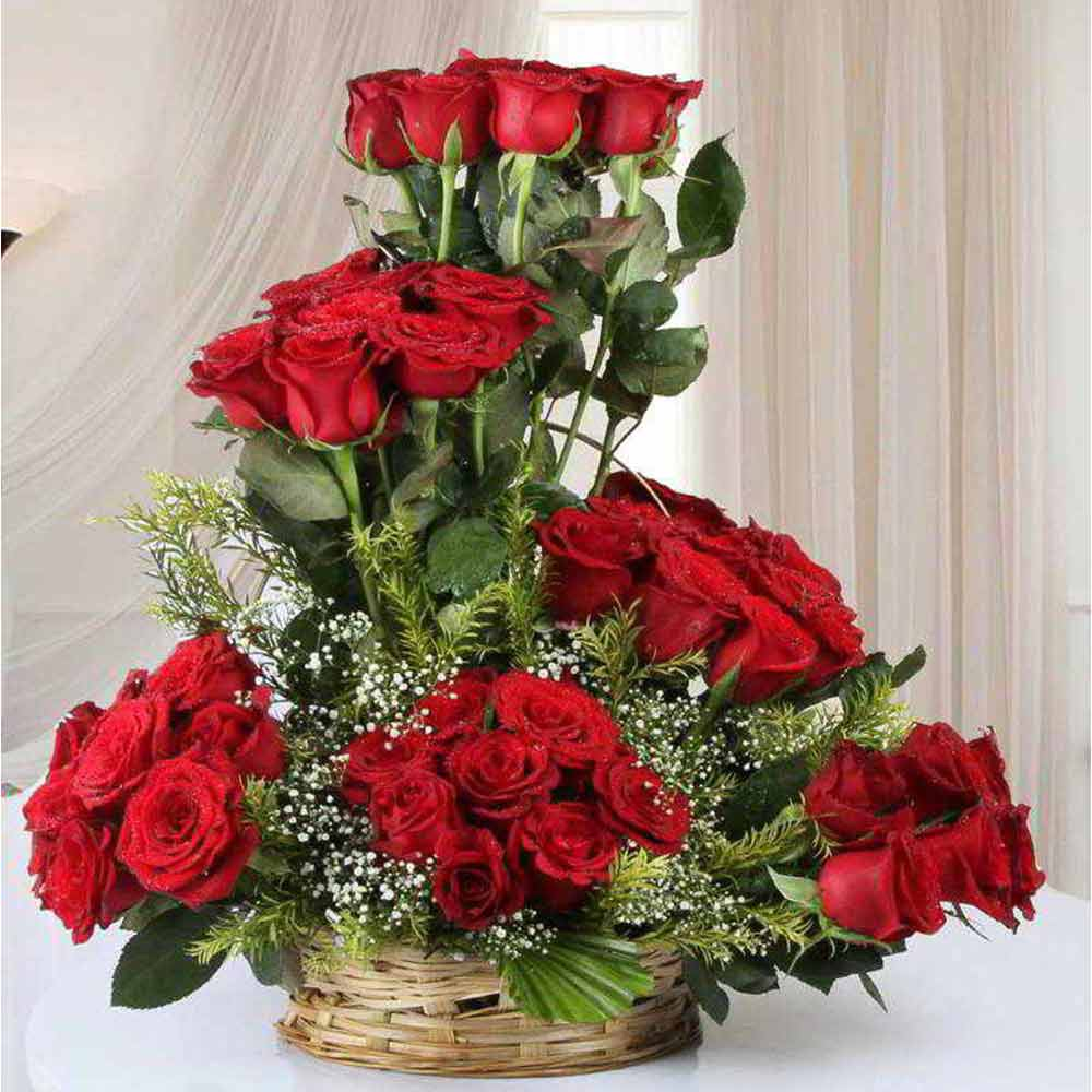 Valentines Special Arrangement of Fifty Red Roses