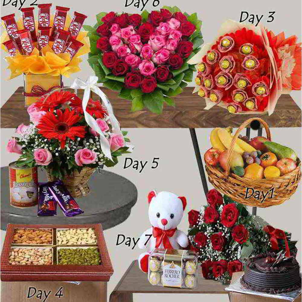 Serenades-Seven Days Gifts Combo For Valentine