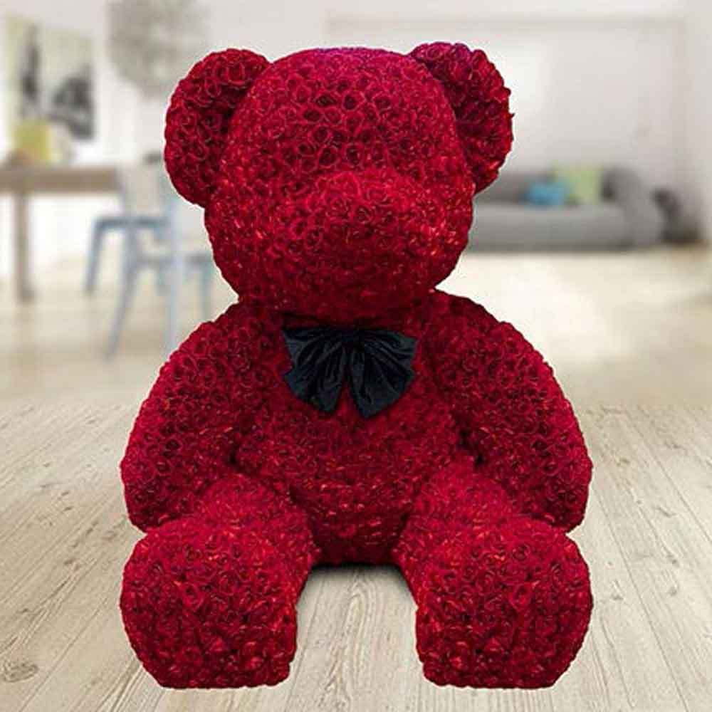 2000 Red Roses Giant Teddy