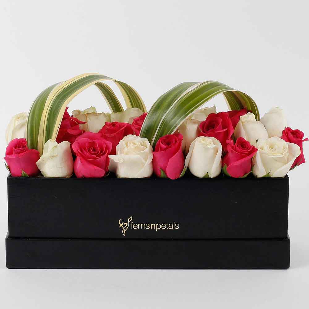 Graceful Roses Box Arrangement