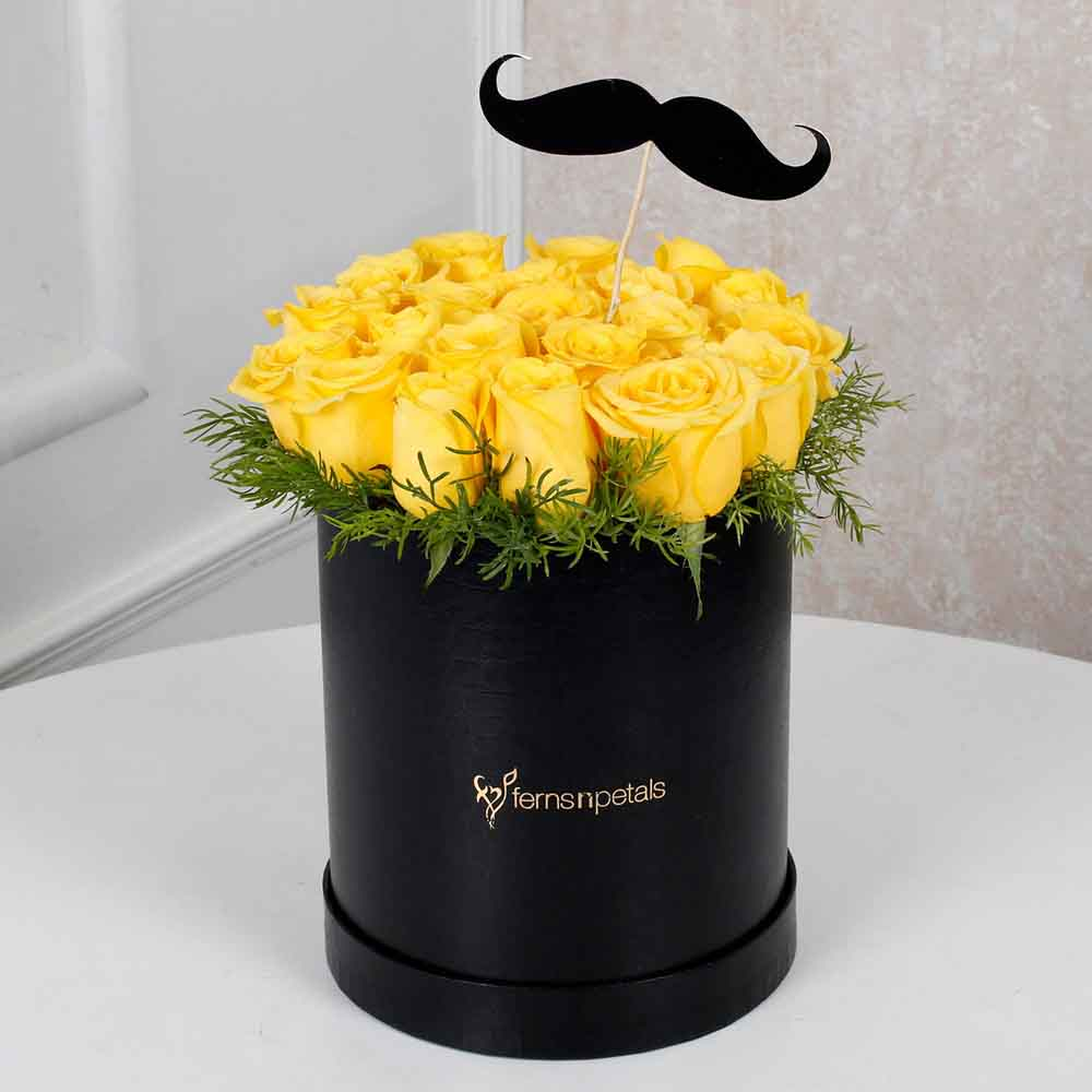 Cheerful Yellow Roses For Him