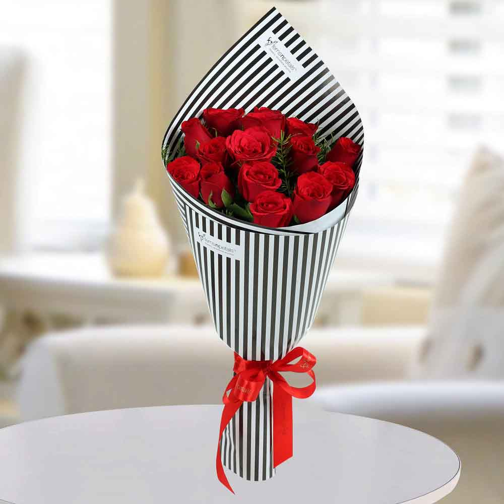 Valentine Roses-Charming Red Roses Bunch