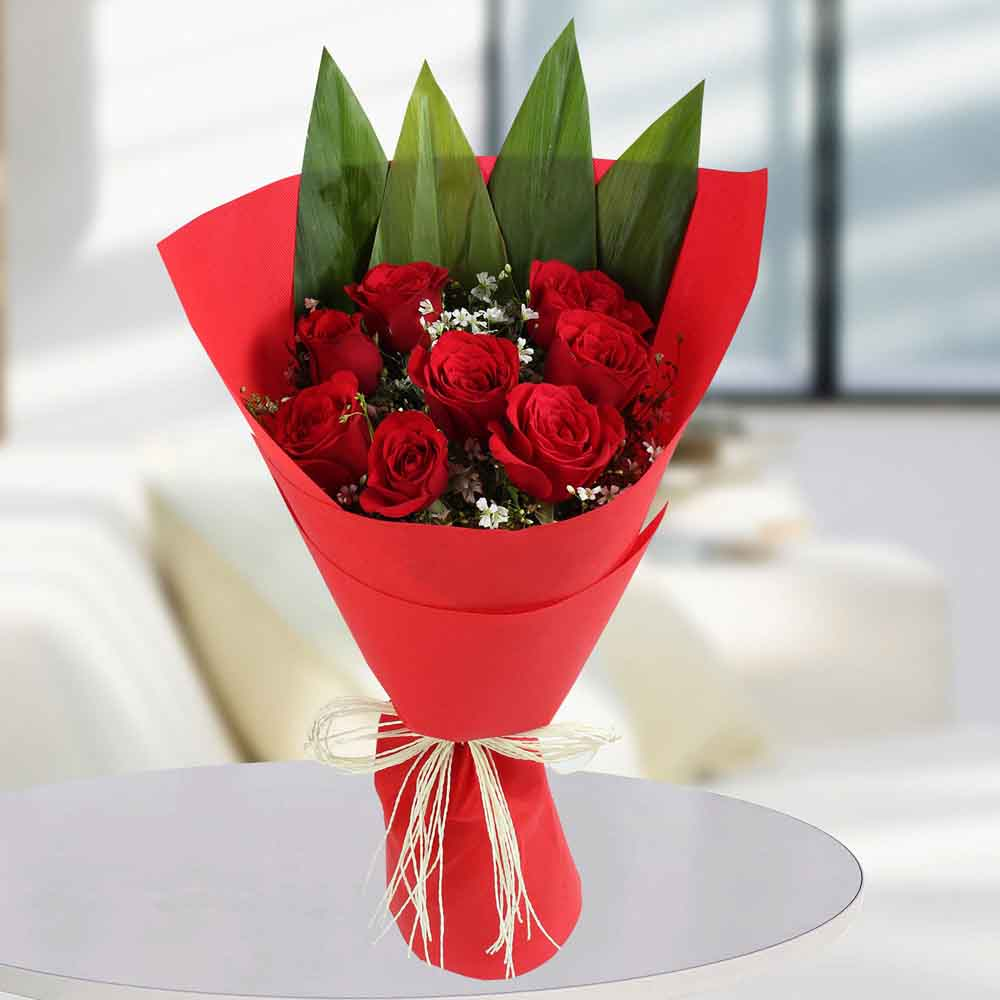 Enchanting Red Rose Bunch
