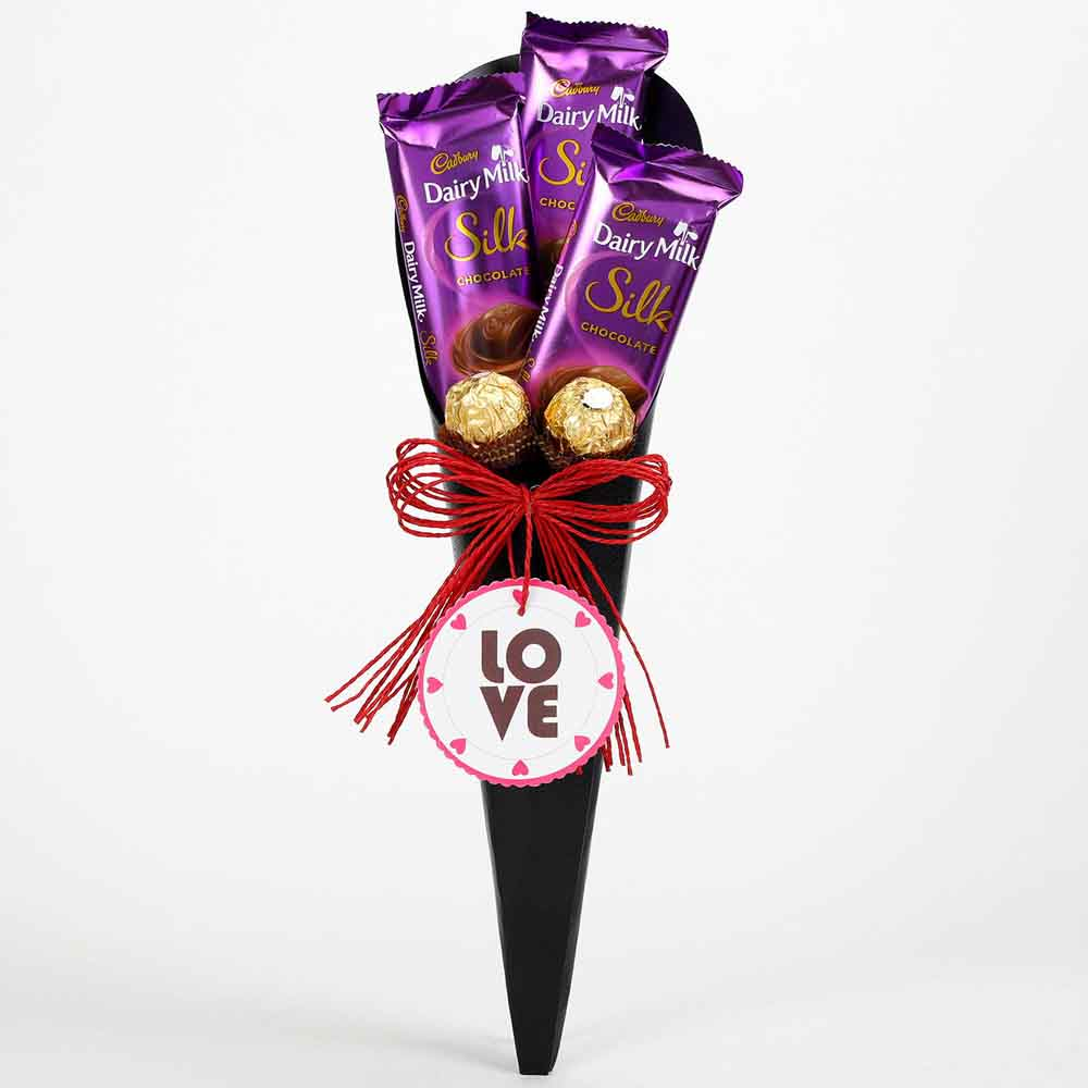 Chocolatey Love Cone Bouquet