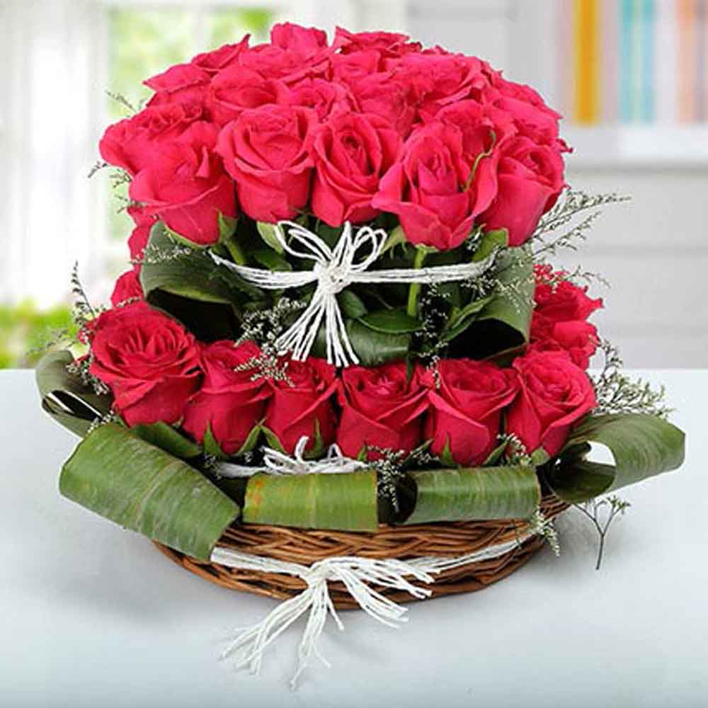 Rose Basket Arrangement