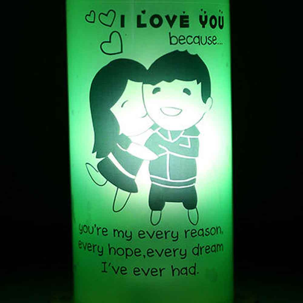 Romantic Toys-I Love You Because Lamp