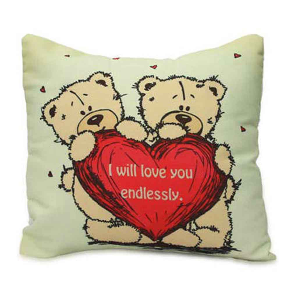 Romantic Toys-Cute Teddy With Message Cushion