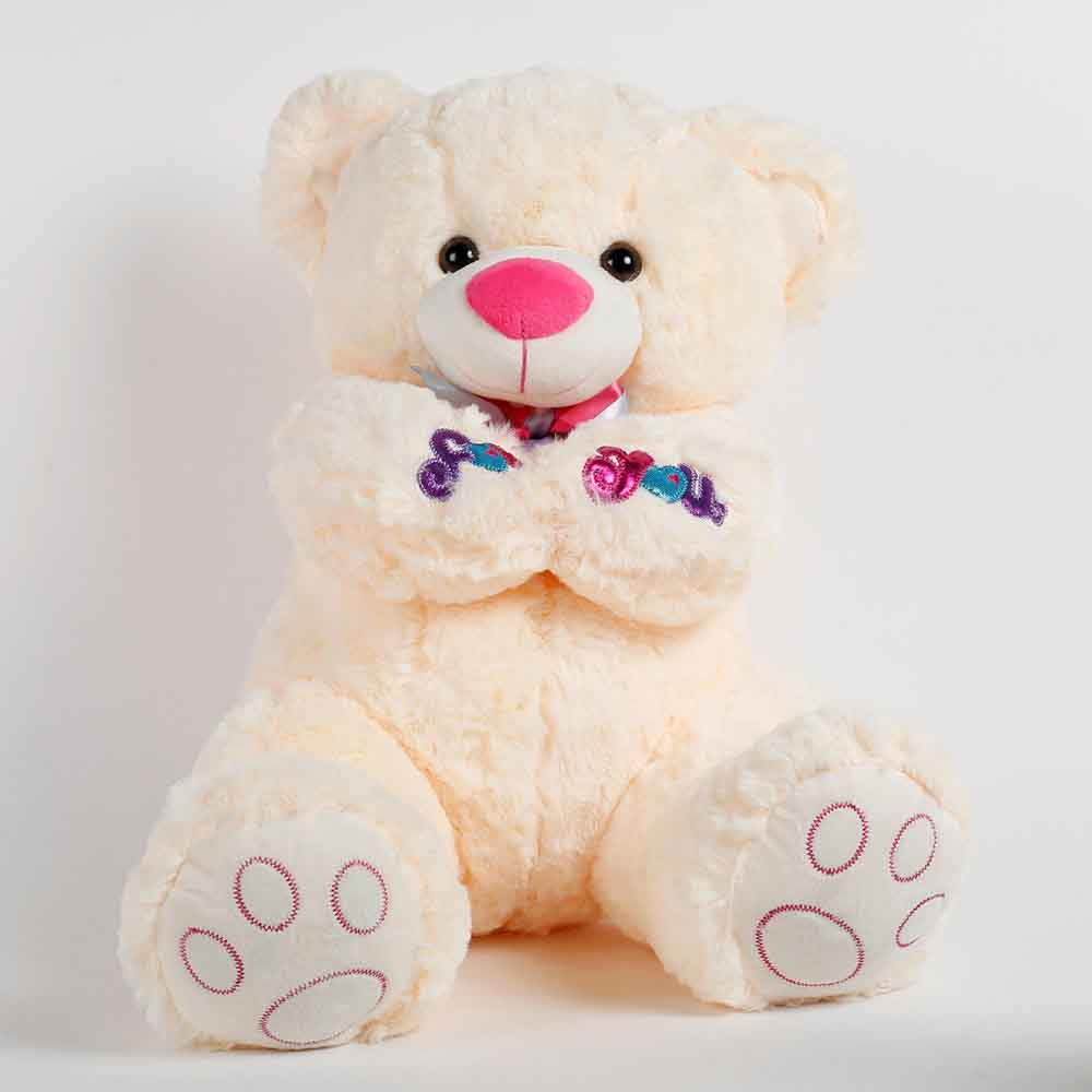 Romantic Toys-Large Teddy Bear For You Cream