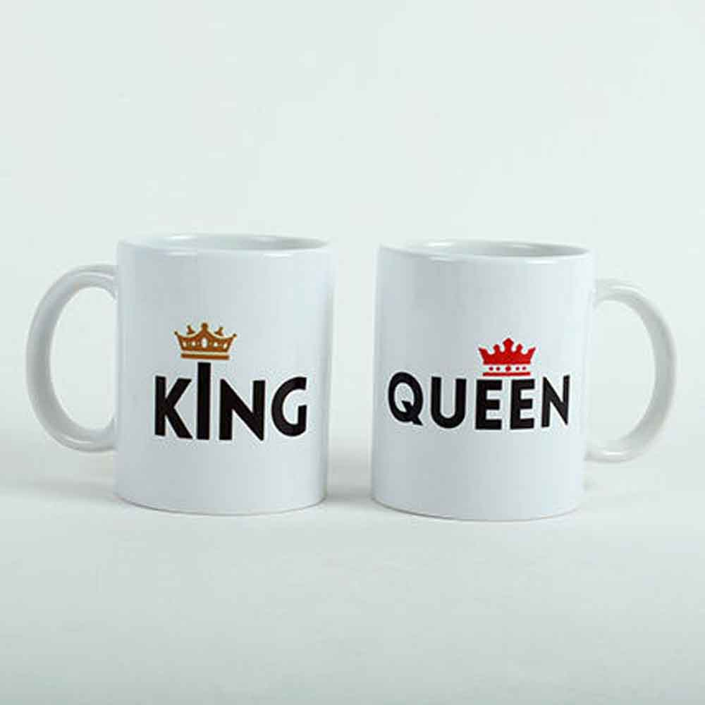 King Queen Printed Mugs