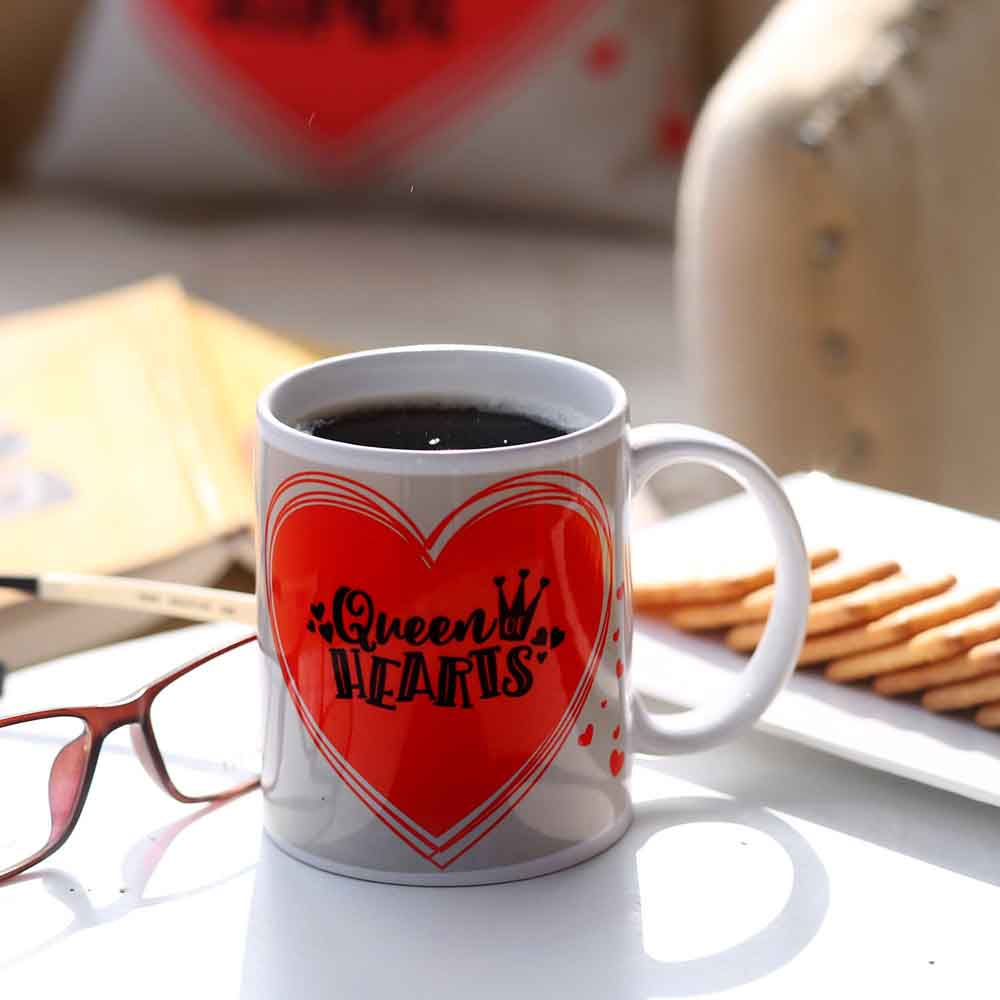 Queen Hearts Printed Mug