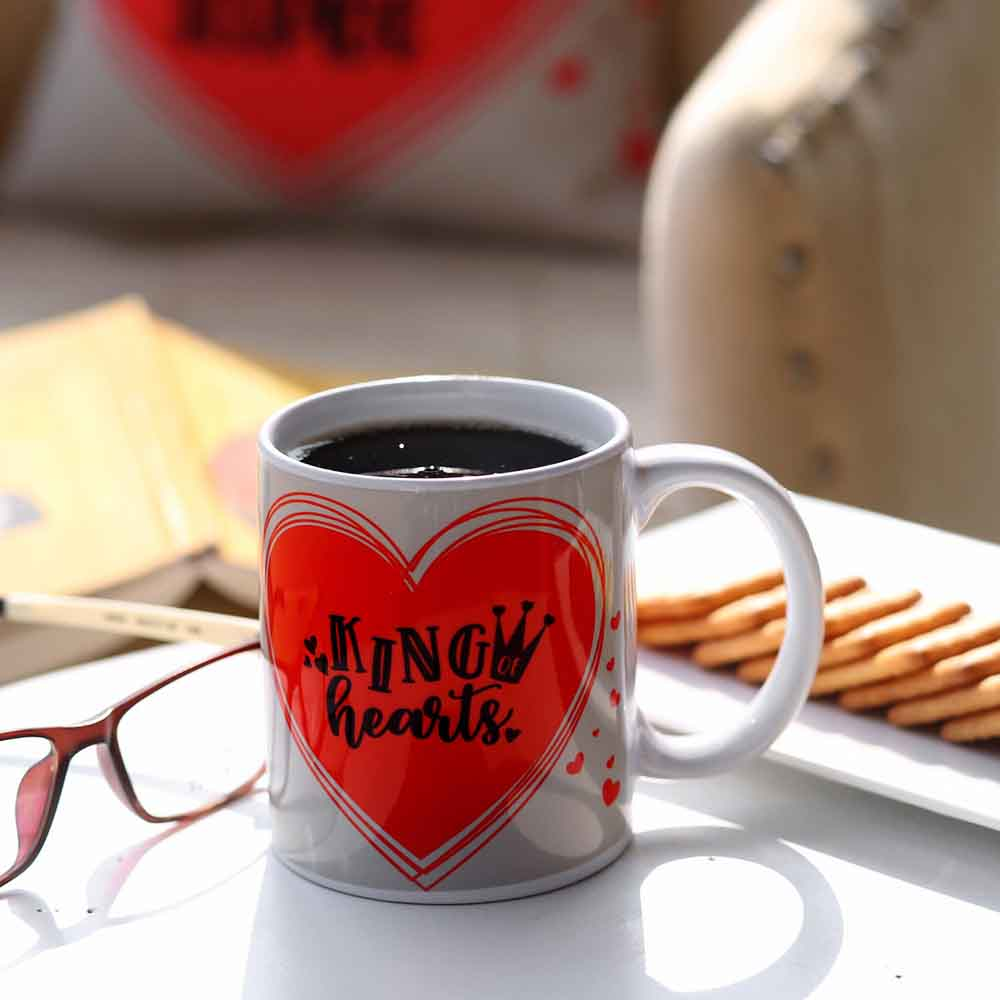 King Hearts Printed Mug