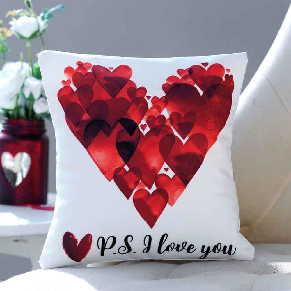 P S I Love You Printed Cushion