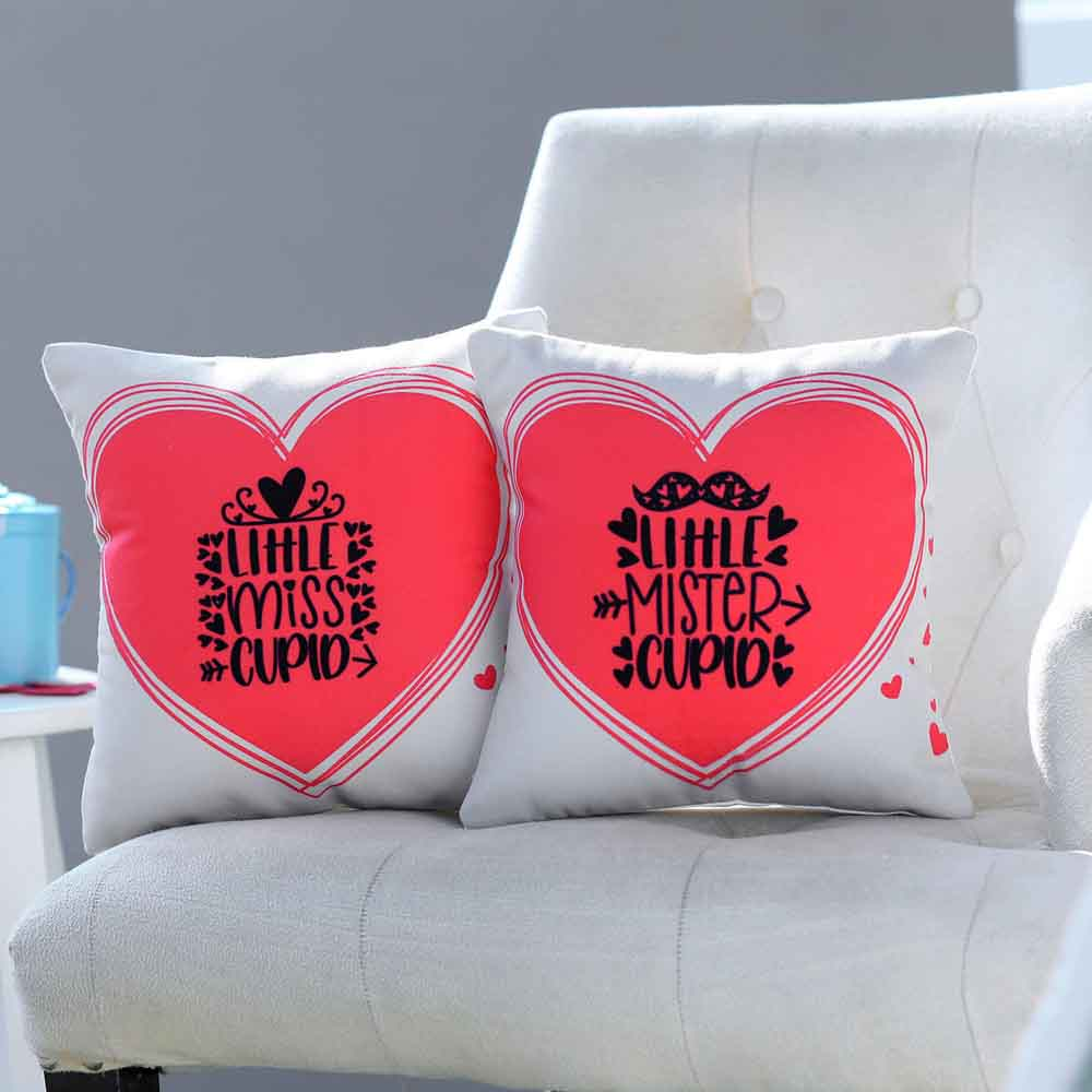 Little Mr & Ms Cupid Cushion Set