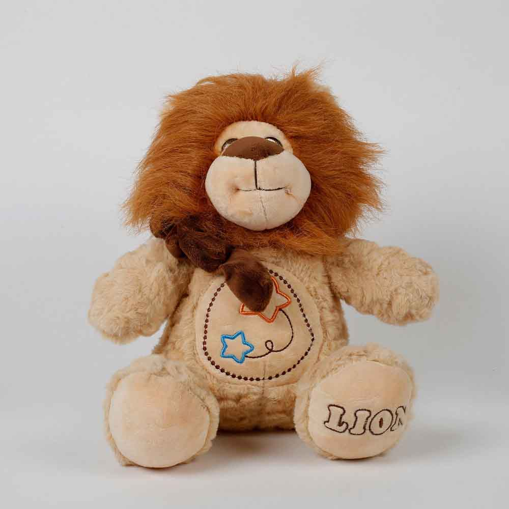 Romantic Toys-Cute Lion Soft Toy Brown