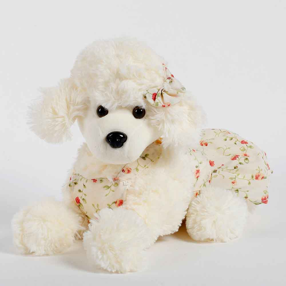 Romantic Toys-Poodle Dog Soft Toy Cream