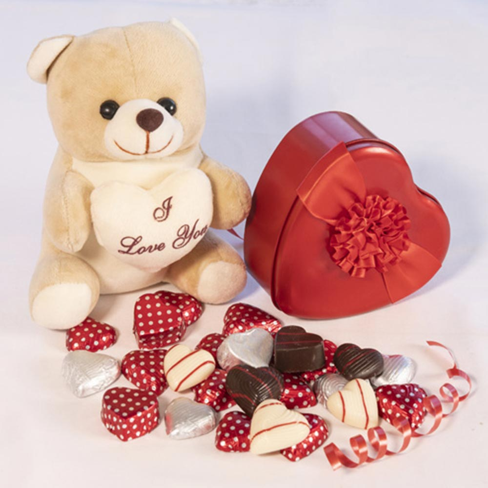 Chocolates-Cute Teddy with Chocolates for your love