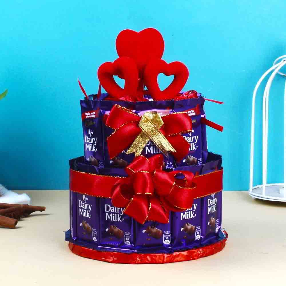 Cakes-Dairy Milk Chocolates Cake