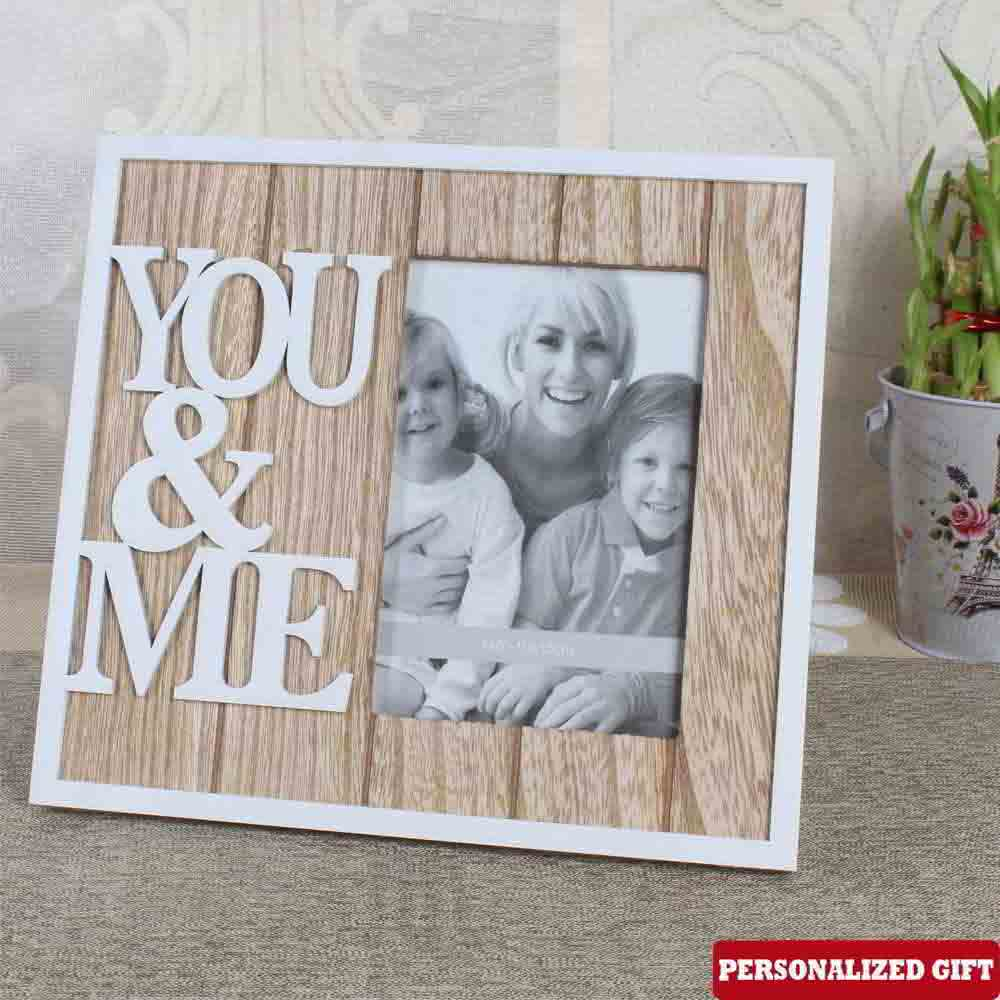 YOU & ME Personalized Photo Frame
