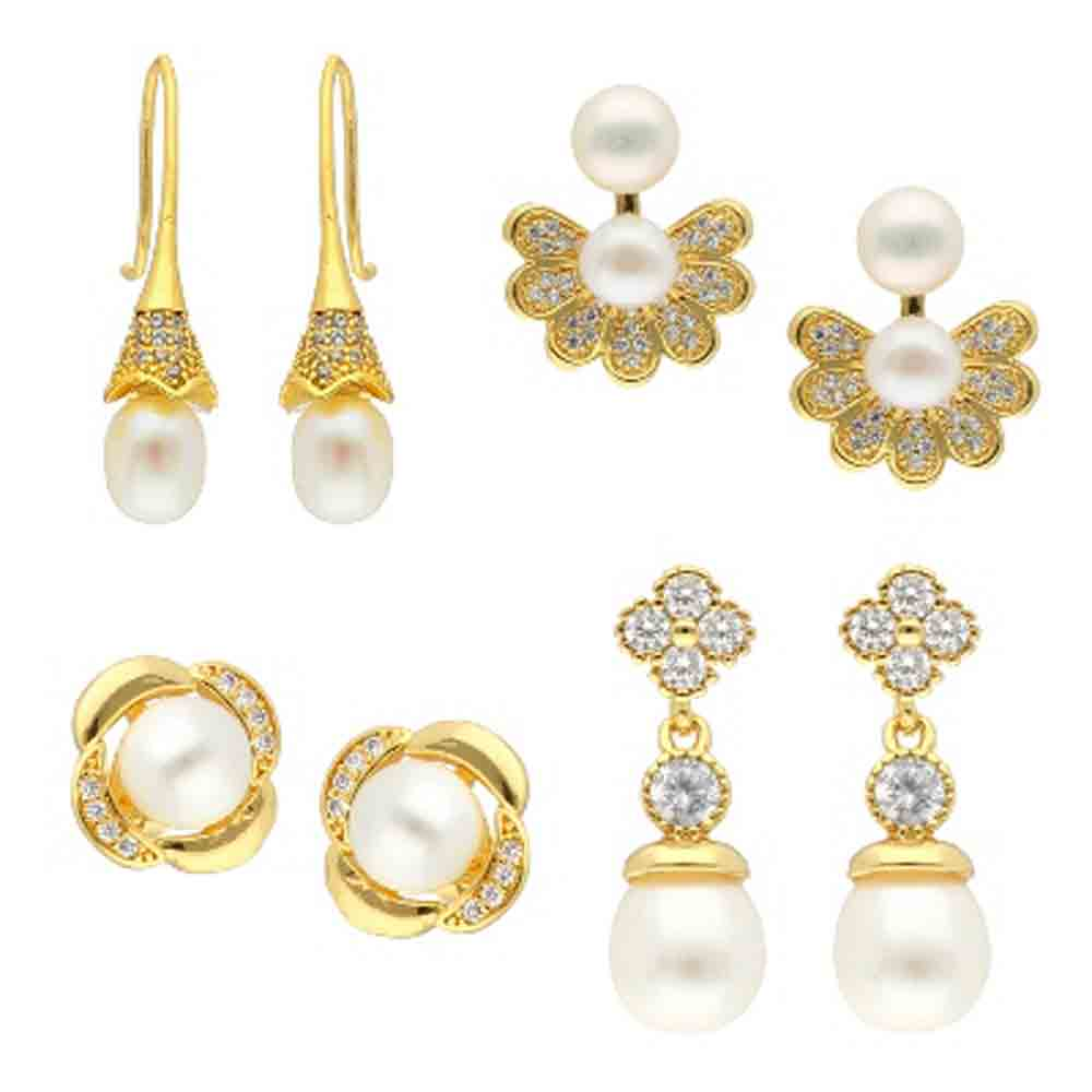 Jewelry-Valentines Combo Of 4 Pair Earrings